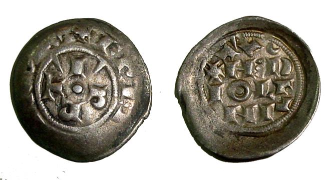 Reino de Italia - Dinero scodellato de Friedrich I Barbarosa (1152-1190), ceca Milano Gerfred1bg
